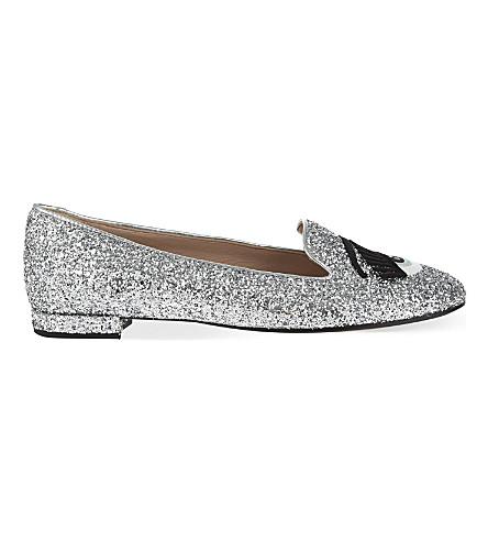 CHIARA FERRAGNI Flirting glitter slippers (Silver