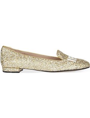 CHIARA FERRAGNI I feel glitter slippers
