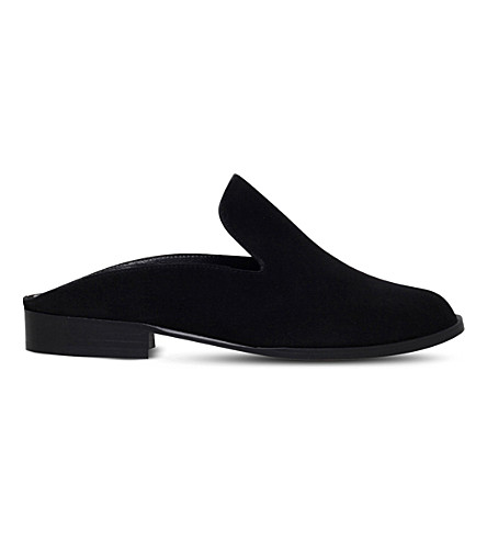 ROBERT CLERGERIE Alice backless suede loafers (Black