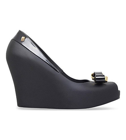 MELISSA Queen jelly wedges (Black
