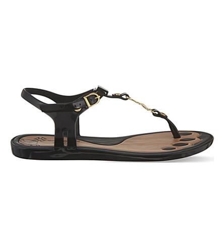 MELISSA + VIVIENNE WESTWOOD Solar t-bar sandals (Black