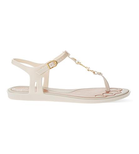 MELISSA + VIVIENNE WESTWOOD Solar t-bar sandals (Winter+wht