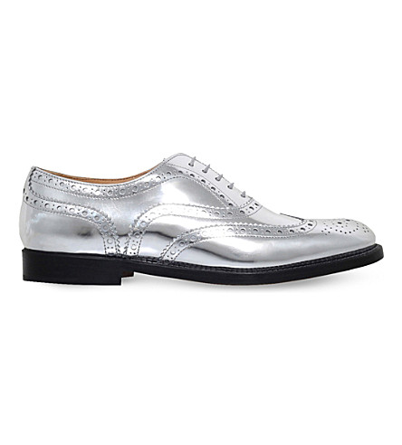 CHURCH Burwood metallic brogues (Silver