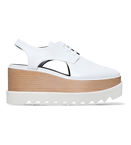 STELLA MCCARTNEY Elyse cut-out flatform shoes (White