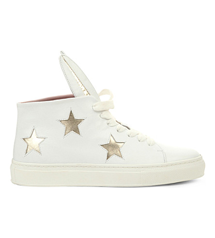 MINNA PARIKKA Bunny leather high-top trainers (White/oth