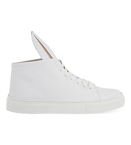MINNA PARIKKA Bunny leather high-top trainers (White