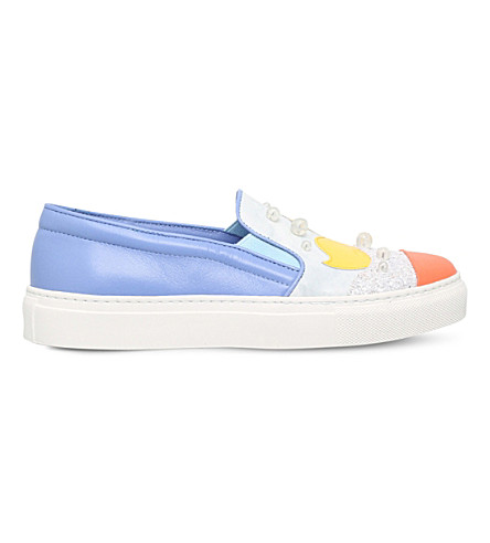 MINNA PARIKKA Donald leather sneakers (Pale+blue
