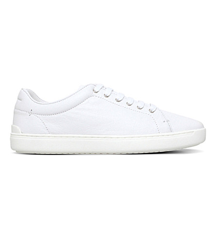 RAG AND BONE Kent leather lace-up trainers (White