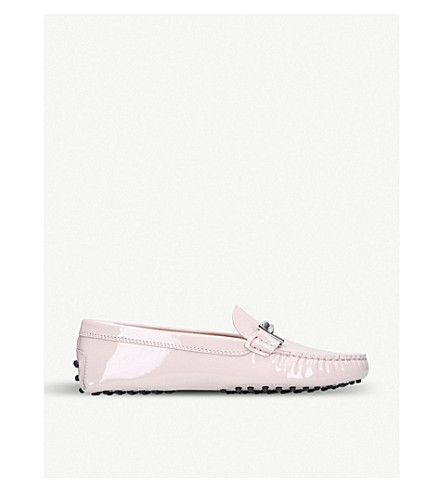 TODS Gommini patent leather driving shoes (Pink