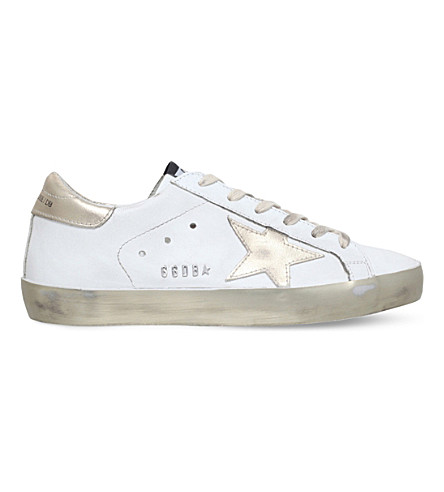 GOLDEN GOOSE Superstar e37 leather trainers (Gold