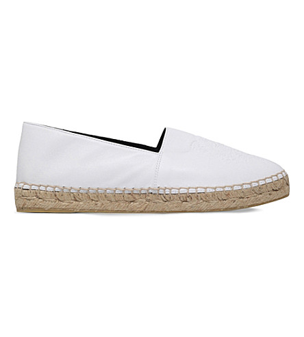 KENZO Tiger leather espadrilles (White