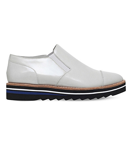 VINCE Alona patent-leather Oxford shoes (Winter+wht