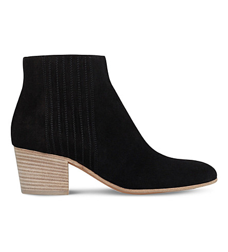 VINCE Haider slip-on suede boots (Black