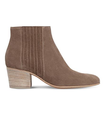 VINCE Haider slip-on suede boots (Beige