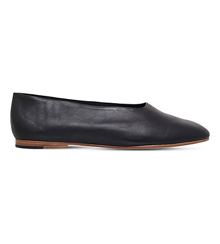 VINCE Maxwell leather ballet flats (Black