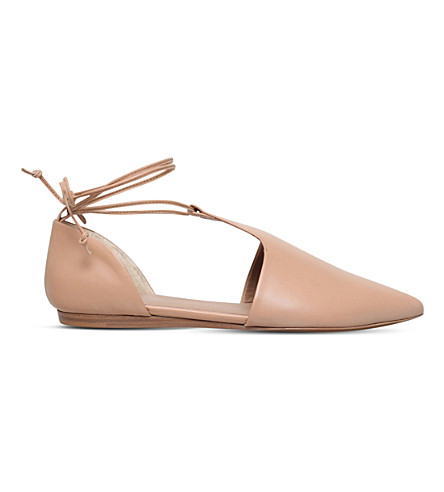 VINCE Noella leather flats (Beige