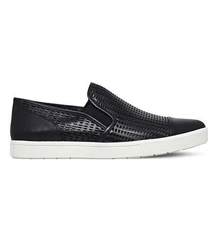 VINCE Paeyre-2 perforated leather trainers (Black