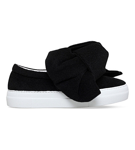 JOSHUA SANDERS Felt bow skate shoes (Black