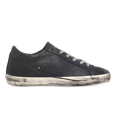 GOLDEN GOOSE Superstar a6 suede trainers (Black