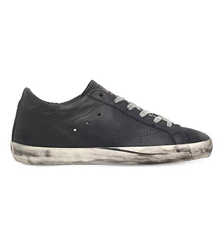 GOLDEN GOOSE 巨星 a6 麂皮运动鞋 (黑色