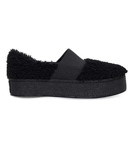 OPENING CEREMONY Cici curly shearling skate shoes (Black