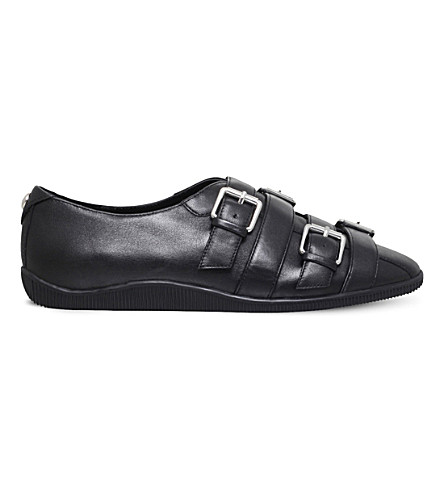 OPENING CEREMONY Novva buckle-detail leather loafers (Black