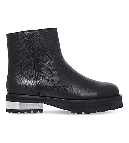 OPENING CEREMONY Gambra leather ankle boots (Black
