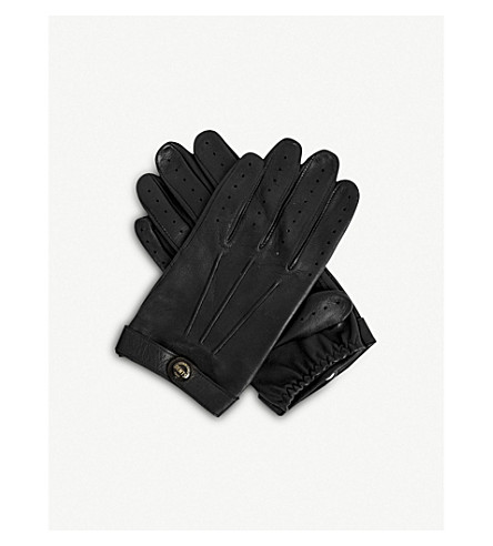 DENTS Fleming leather driving gloves (Black