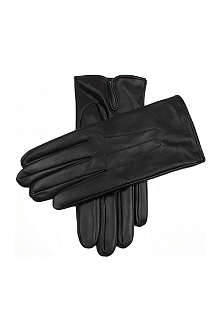 DENTS Hand-sewn silk-lined leather gloves