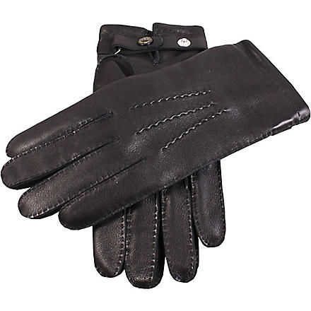 DENTS Hand-sewn leather gloves (Black