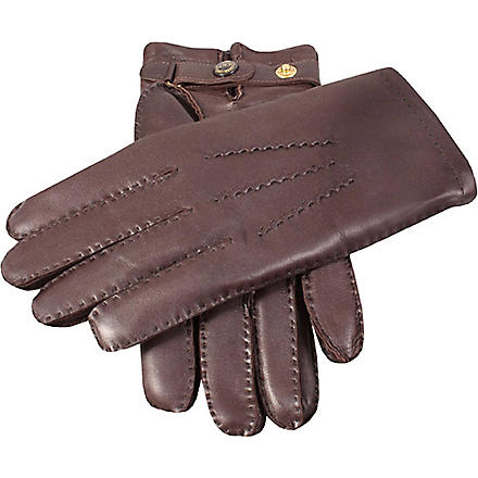 DENTS Hand-sewn leather gloves (Brown