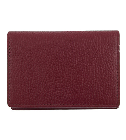 DENTS RFID protection leather card holder (Berry