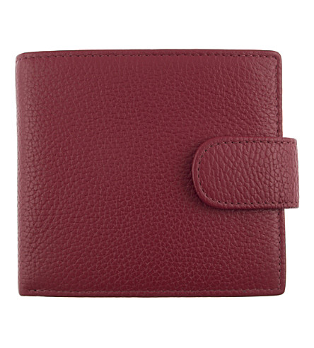 DENTS RFID protection leather wallet (Berry