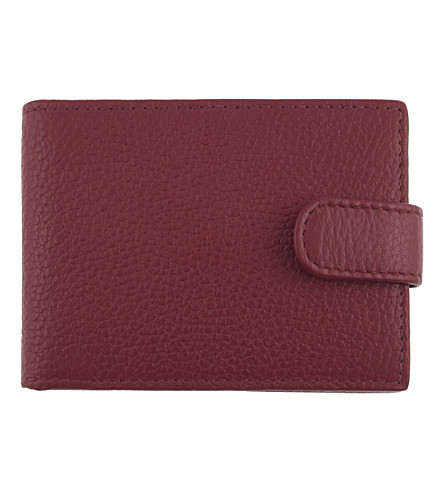 DENTS RFID protection leather cardholder wallet (Berry