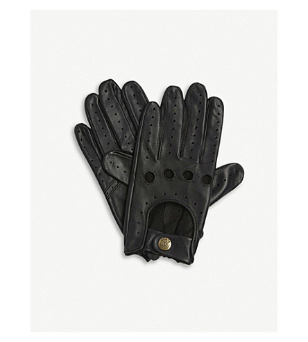 DENTS Leather driving gloves (Black
