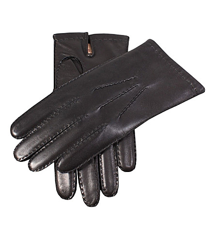 DENTS Hand-sewn cashmere-lined gloves (Black
