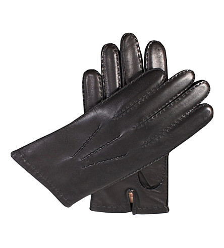 DENTS Cashmere-lined nappa-leather gloves (Black