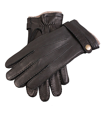 DENTS Casual leather gloves (Black