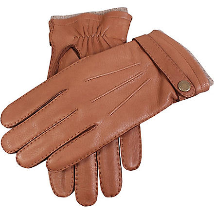 DENTS Casual leather gloves (Tobacco