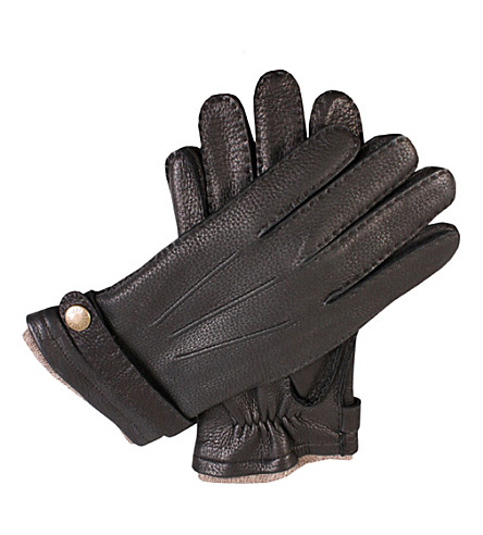 DENTS Casual deerskin gloves (Black