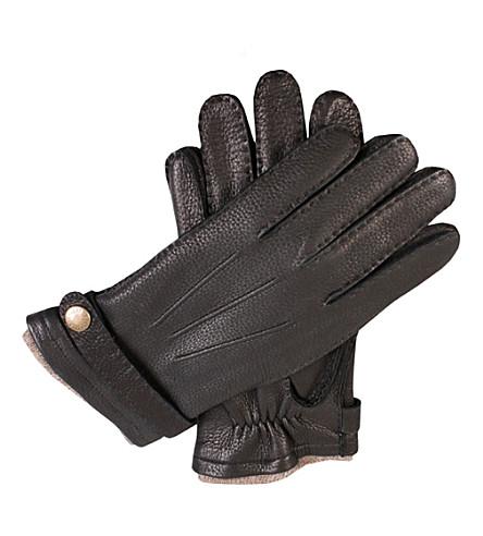 DENTS Casual deerskin gloves (Black
