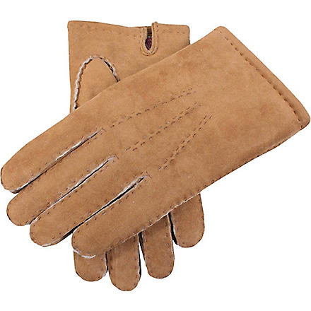 DENTS Hand-sewn lambskin gloves (Camel