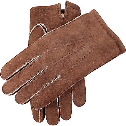 DENTS Hand-sewn lambskin gloves (Mahogany