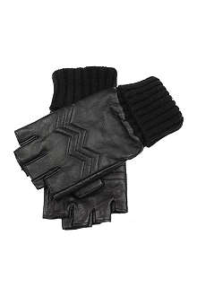 DENTS Fingerless leather gloves