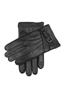 DENTS Deerprint leather gloves