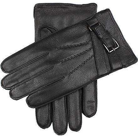 DENTS Deerprint leather gloves (Black