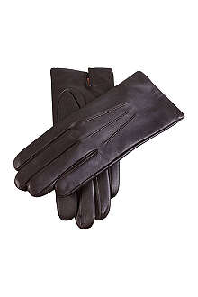 DENTS Leather cashmere-lined gloves