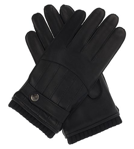 DENTS 皮革手套 (黑色