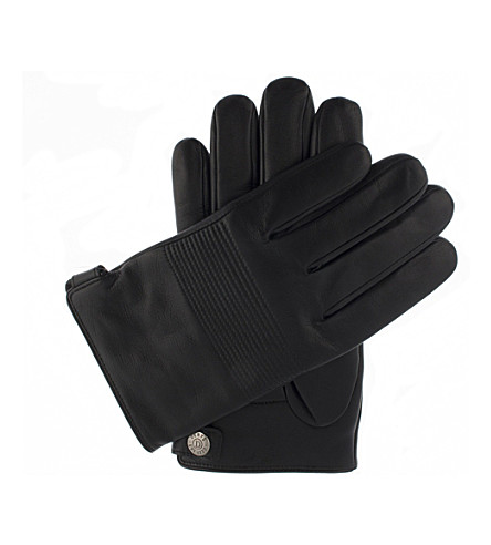 DENTS Leather lined gloves (Black