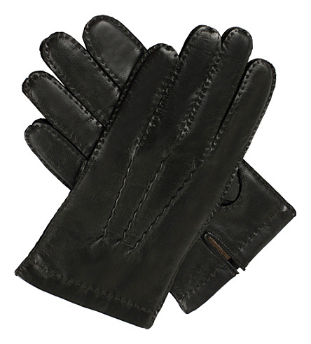 DENTS Touchscreen Technology leather gloves (Black
